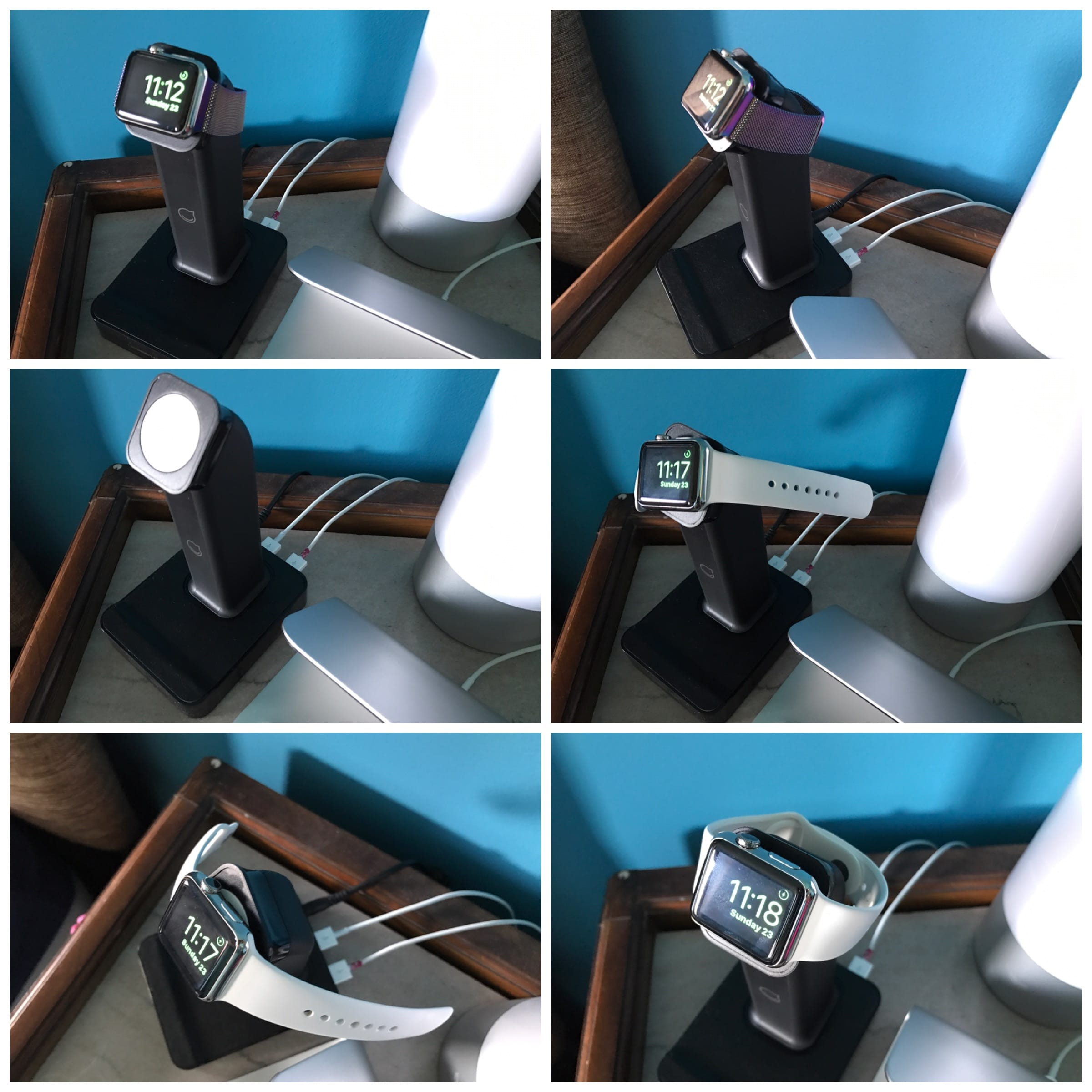 ce support pour apple watch charge aussi deux appareils. Black Bedroom Furniture Sets. Home Design Ideas