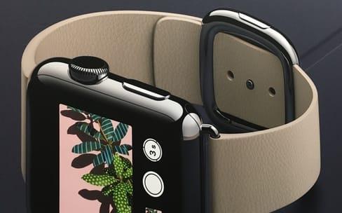 Apple Watch : un bracelet boucle moderne couleur sable inédit