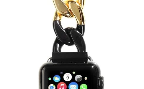 Sacai : un bracelet pour Apple Watch qui n'a pas froid aux yeux