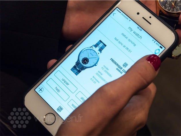 L'application MotionX-365, commune à toutes les montres équipées d'un mouvement MMT.