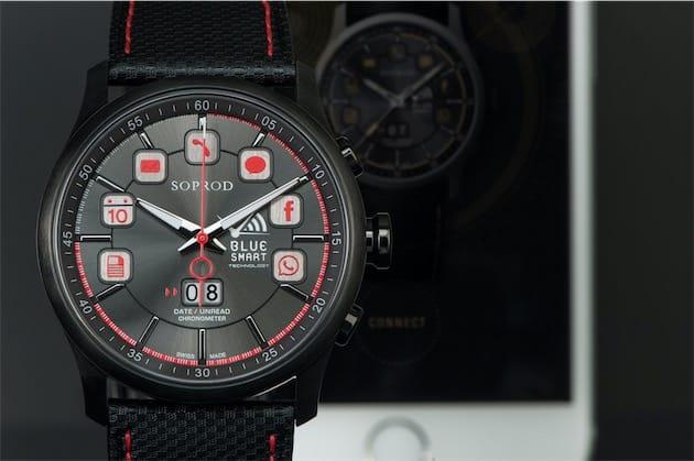 La montre de référence servant à montrer les fonctions du mouvement Highlight. Image Soprod.