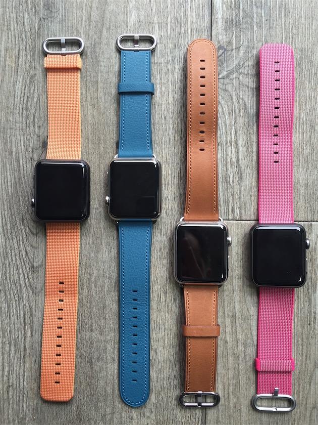 0759e32287f02f Aperçu des bracelets Apple Watch nylon, cuir et milanais noir ...