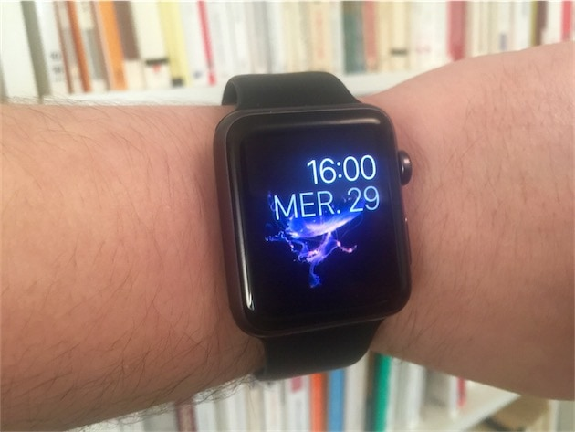 L'un des cadrans conçus par Apple affiche des méduses. C'est joli, mais ce n'est pas très utile.