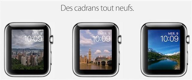 À la sortie de watchOS2, Apple a mis en avant les nouveaux cadrans, même s'ils avaient un air de déjà-vu…