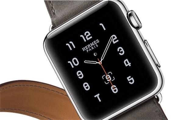 L'une des montres Hermès, avec le cadran spécifique conçu par l'entreprise française.