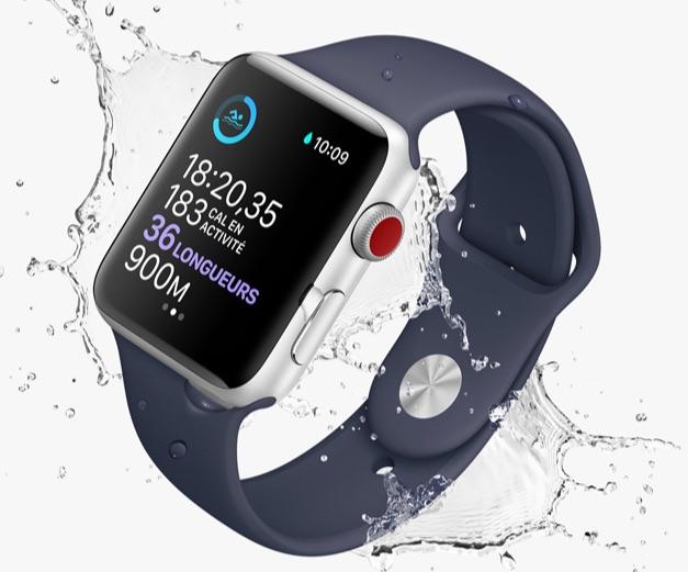 apple watch 2 piscine