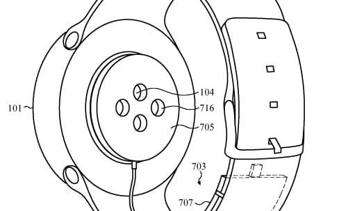 Brevet : un bracelet-batterie pour une Apple Watch ronde