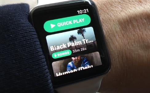 Prise en main de Snowy, un client Spotify pour AppleWatch