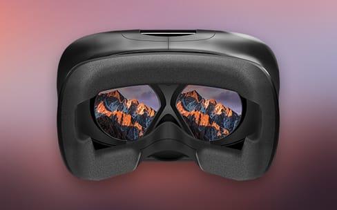 Le bureau du Mac en réalité virtuelle avec VR Desktop