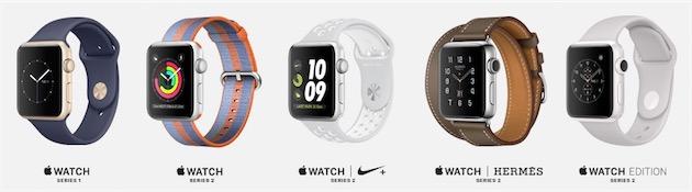 Ce produit encore jeune chez Apple existe maintenant en cinq déclinaisons    Series 1 puis Series 2, Nike+, Hermès et Edition. C est sans compter  ensuite ... 8c2e6a06ac7