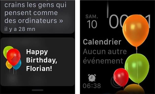 Watchos 4 Votre Apple Watch Vous Souhaite Un Joyeux Anniversaire