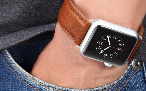 Des socles de recharge Apple Watch et bracelets cuir en promo sur Amazon