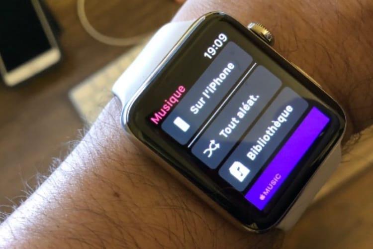 Avec watchOS 4.3, l'Apple Watch contrôle de nouveau la musique de l'iPhone