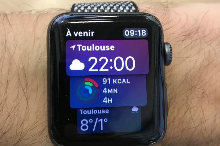 watchOS 4.3 : le cadran Siri affiche les anneaux d'Activité