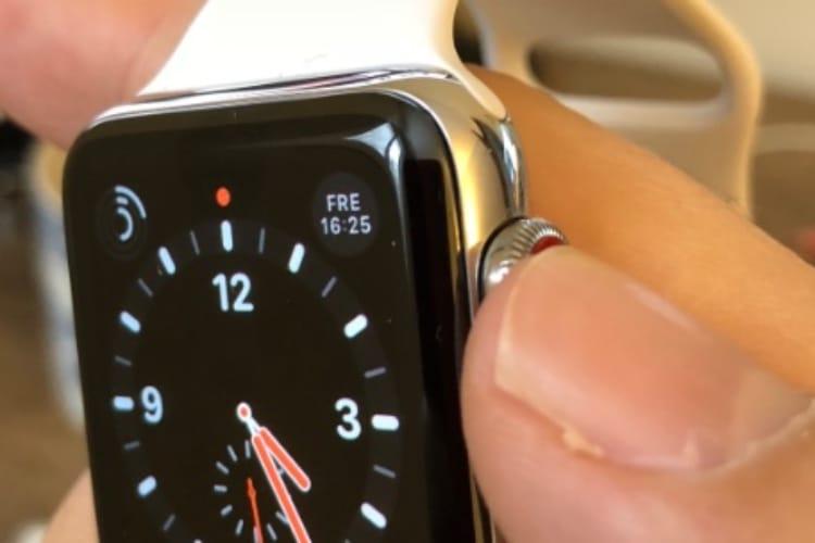 Brevet : Force Touch dans la couronne digitale de l'Apple Watch