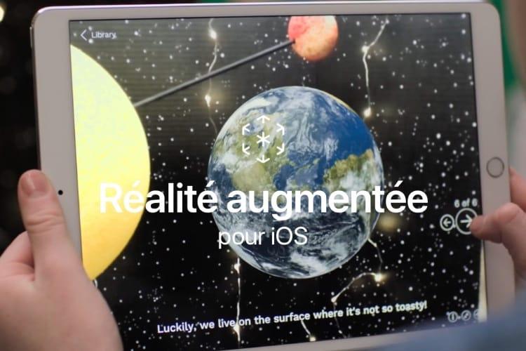 La réalité augmentée en vedette et en français sur le site d'Apple