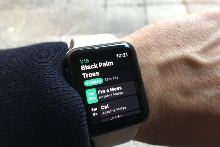 L'application Spotify pour l'Apple Watch pourrait faire du bruit à la WWDC