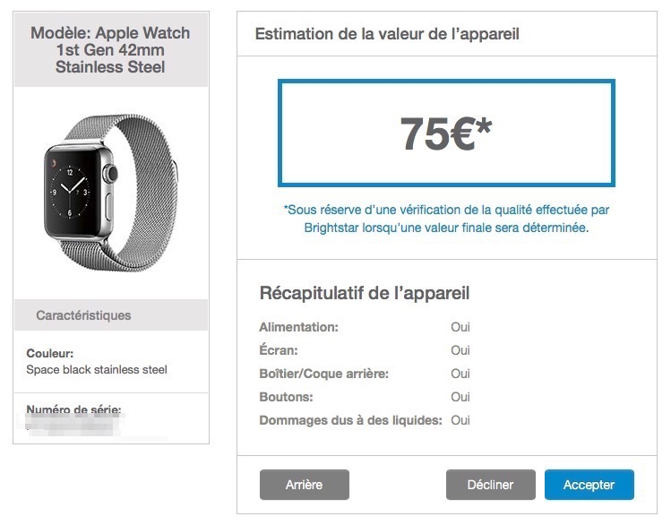apple store un bon d 39 achat contre une ancienne apple watch watchgeneration. Black Bedroom Furniture Sets. Home Design Ideas