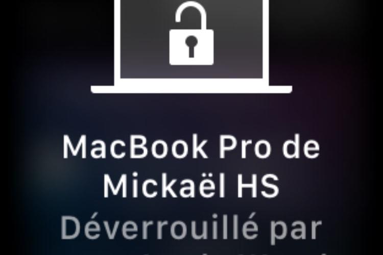 watchOS 4.3: petite icône en plus pour le déverrouillage du Mac