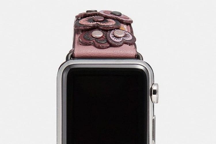 Nouveaux bracelets Coach en cuir pour l'Apple Watch
