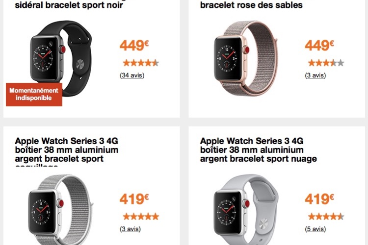 Orange : des remises sur les Apple Watch et l'iPhone SE