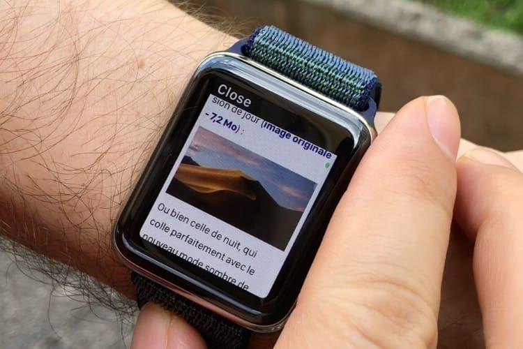 WebKit dans watchOS 5 : un tout petit navigateur au poignet