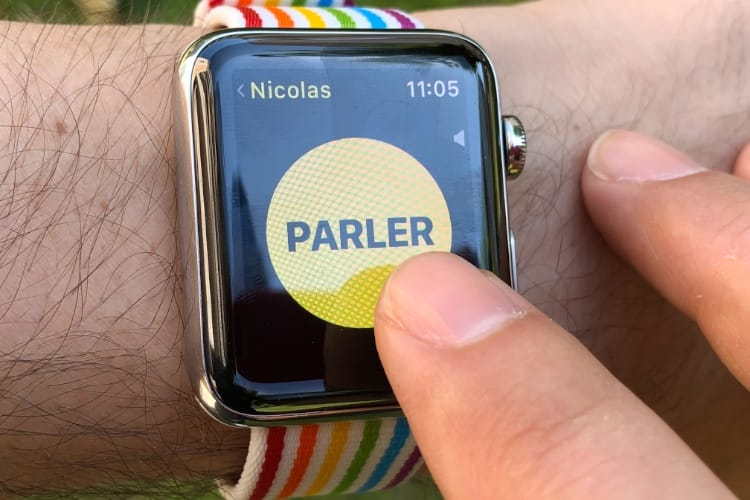 watchOS 5 : on parle à l'app Talkie-walkie